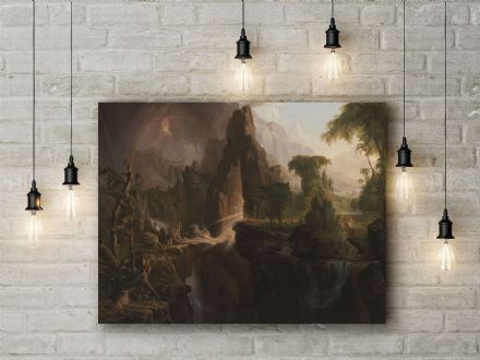 Thomas Cole: Expulsion fro the Garden of Eden. Fine Art Canvas.